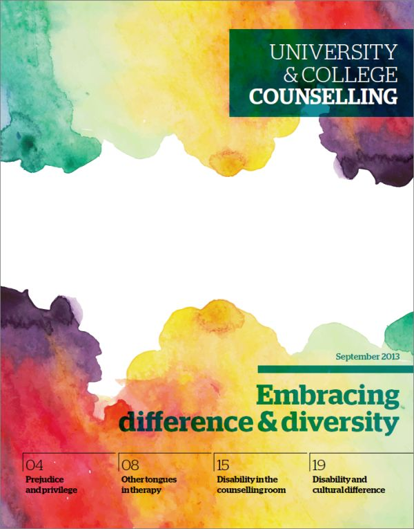 Cover of University and College Counselling, September 2013