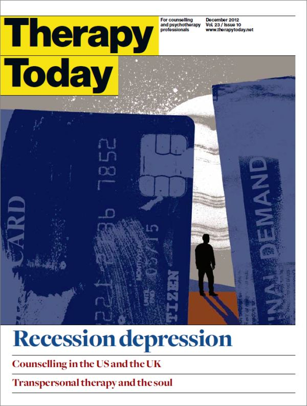 Cover of Therapy Today, December 2012