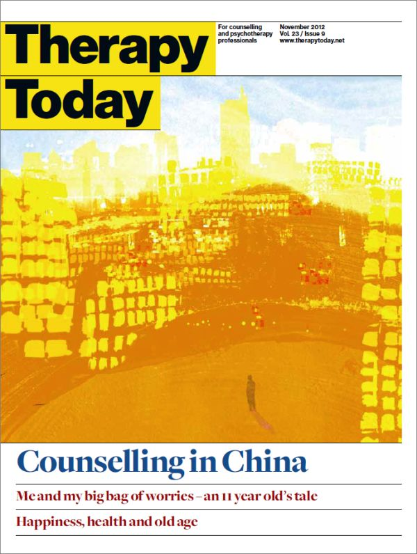 Cover of Therapy Today, November 2012