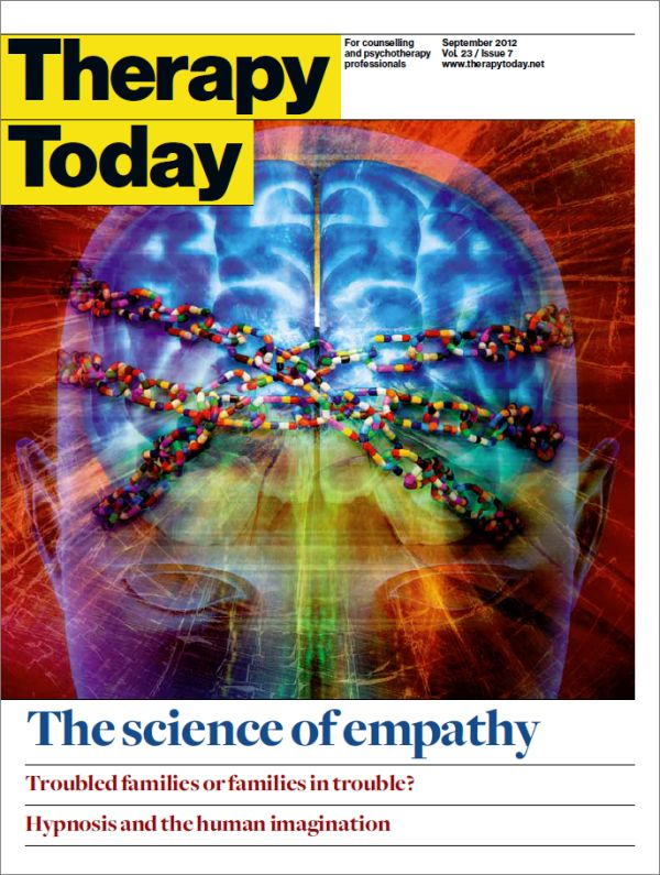 Cover of Therapy Today, September 2012