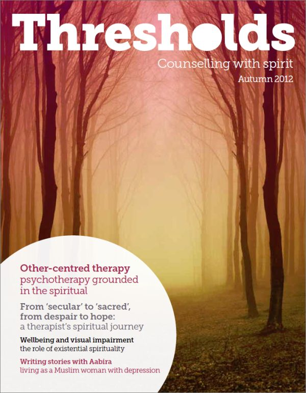 Cover of Thresholds, Autumn 2012