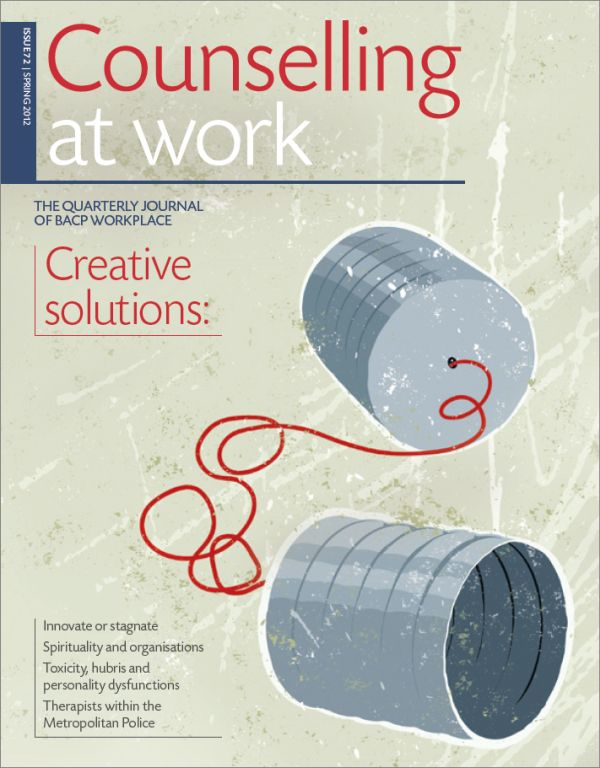 Cover of Counselling at Work, Spring 2012