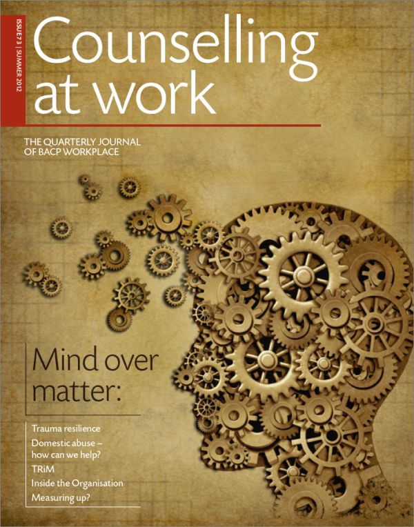 Cover of Counselling at Work, Summer 2012