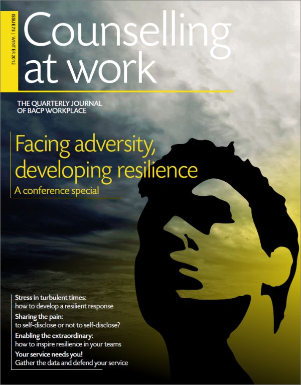 Cover of Counselling at Work, Winter 2012