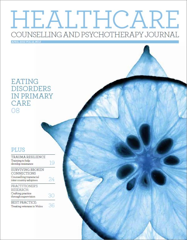 Cover of Healthcare Counselling and Psychotherapy Journal, April 2012