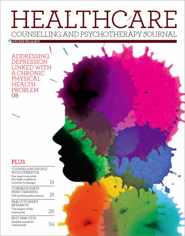Cover of Healthcare Counselling and Psychotherapy Journal, July 2012