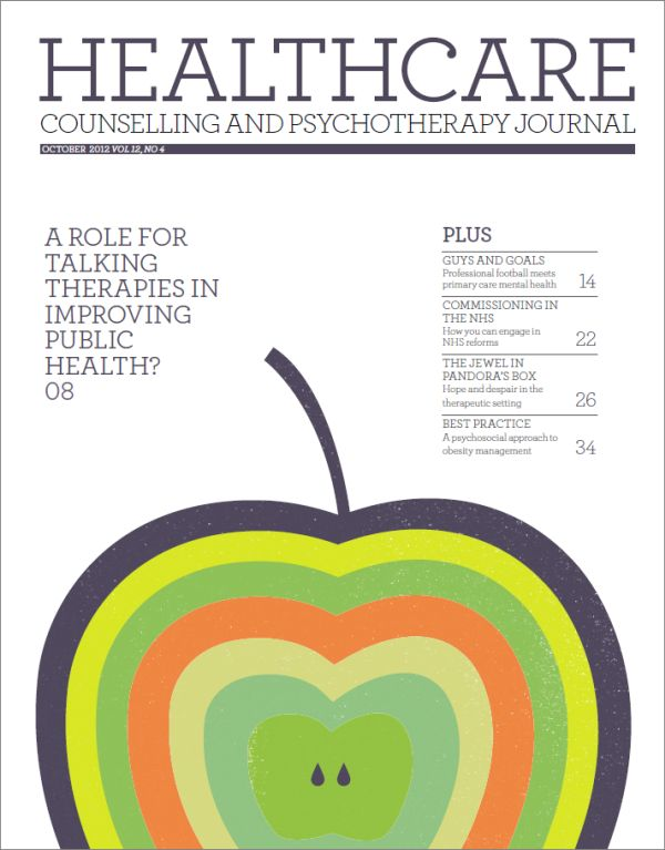 Cover of Healthcare Counselling and Psychotherapy Journal, October 2012
