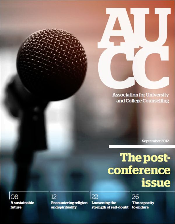 Cover of AUCC, September 2012