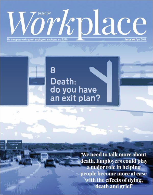 Cover of BACP Workplace, April 2018 issue