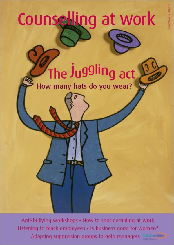 Cover of Counselling at Work, Autumn 2010