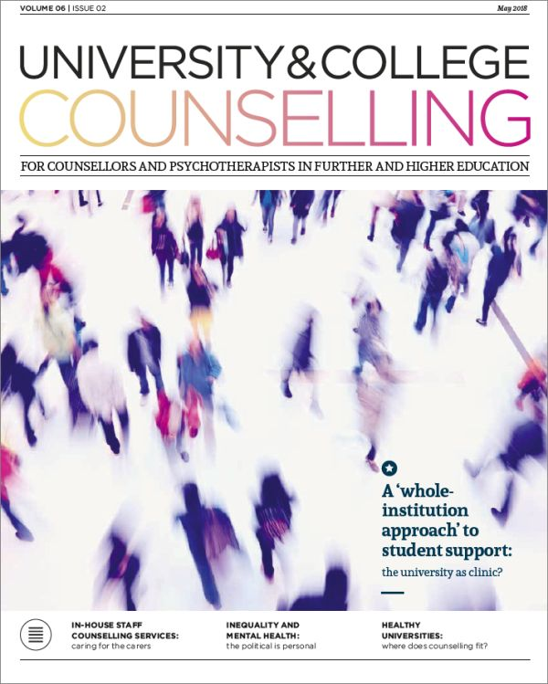 Cover of University and College Counselling, May 2018