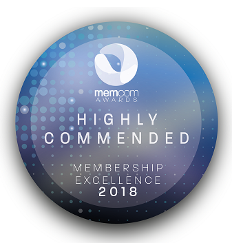 Memcom highly commended badge
