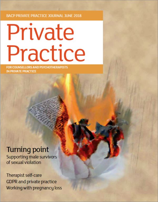 Cover of Private Practice journal June 2018