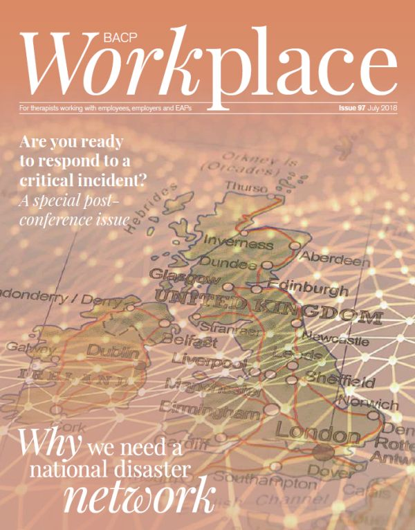 Cover of BACP Workplace July 2018