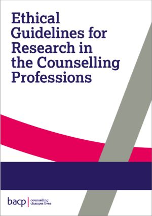 Cover of the Ethical guidelines for research in the counselling professions