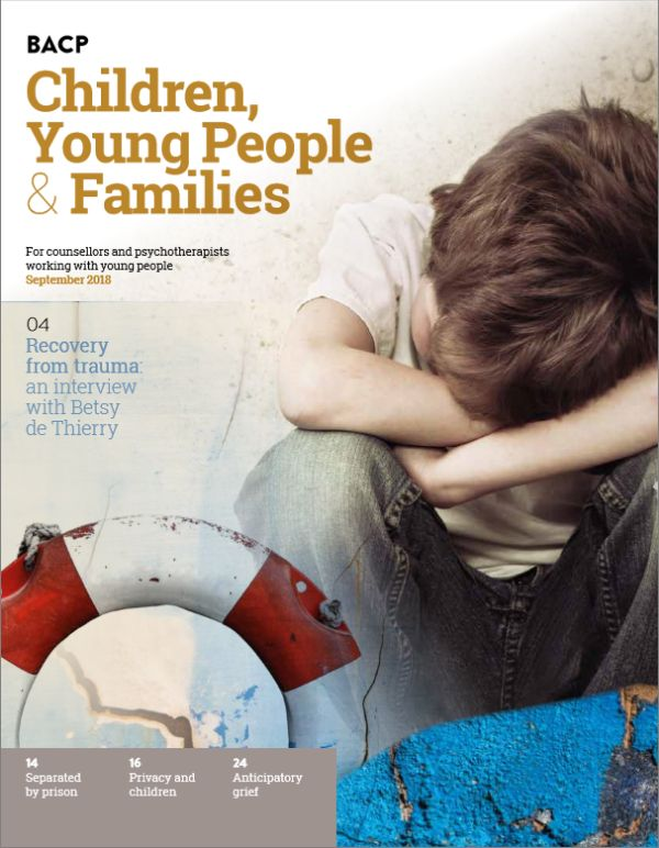 Cover of BACP Children, Young People and Families journal, September 2018