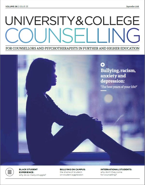 Cover of University and College Counselling, September 2018