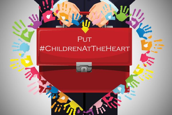 Put children at the heart campaign logo