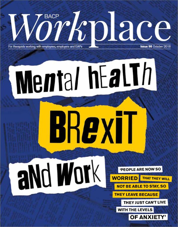 Cover of BACP Workplace October 2018