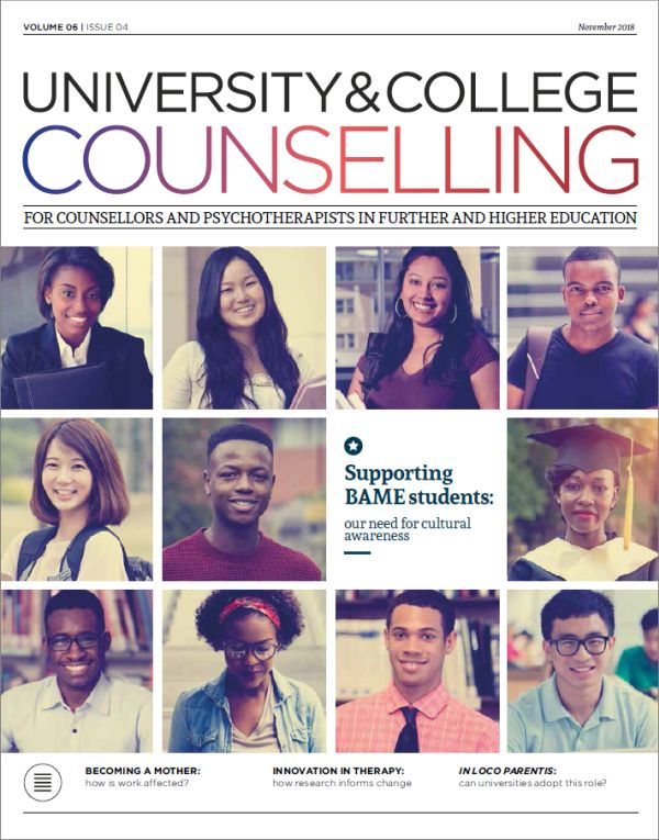 Cover of University and College Counselling November 2018