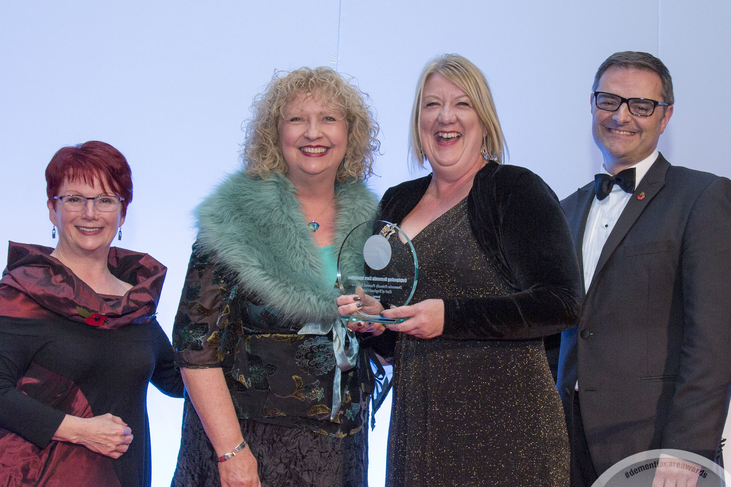 Danuta Lipinska (second from the left) receives the Outstanding Dementia Care award