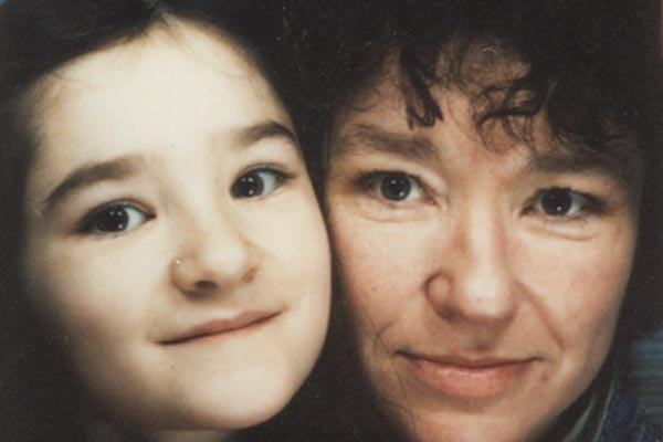 Emily and her mum, taken when Emily was a child.