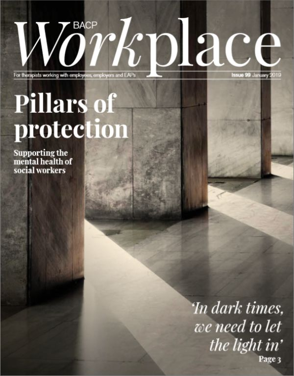 Cover of BACP Workplace, January 2019 issue