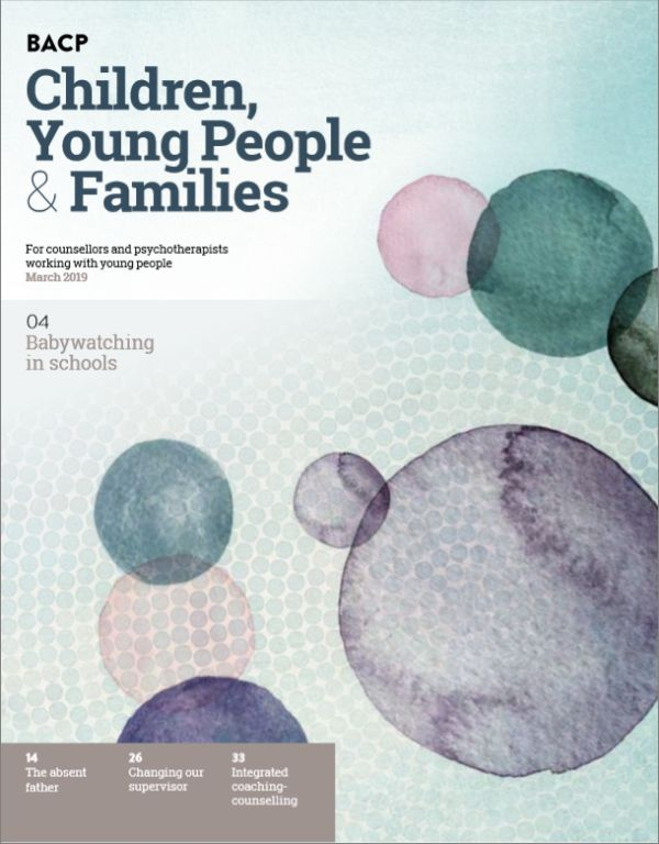Cover of BACP Children, Young People and Families, March 2019 issue
