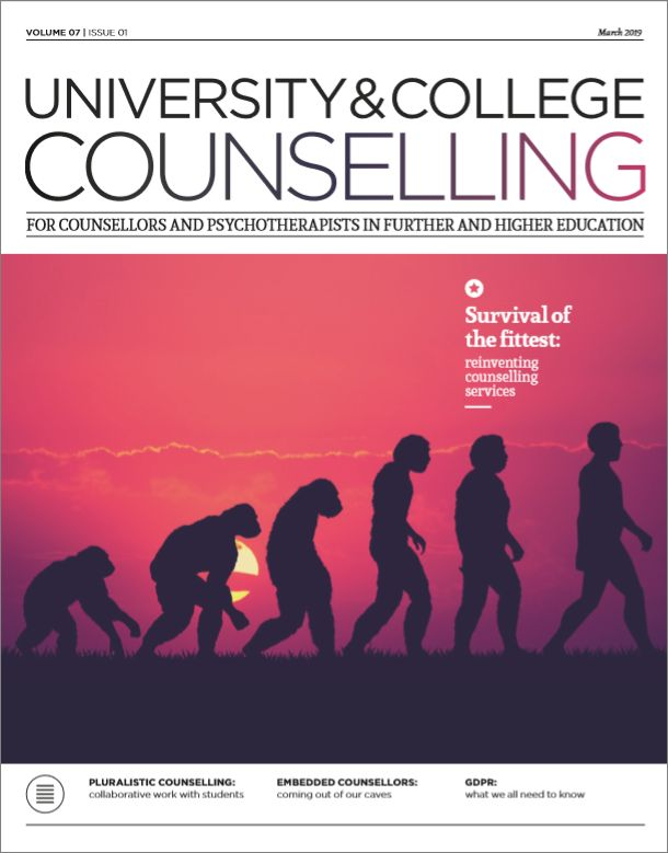 Cover of University and College Counselling, March 2019 issue