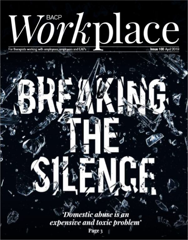 Cover of BACP Workplace, April 2019