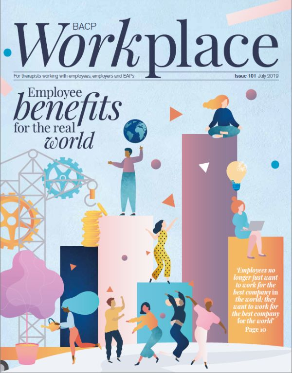 Cover of BACP Workplace July 2019