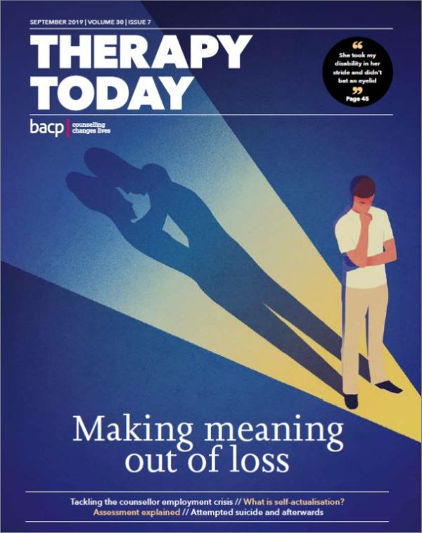 Cover of Therapy Today  September 2019 issue