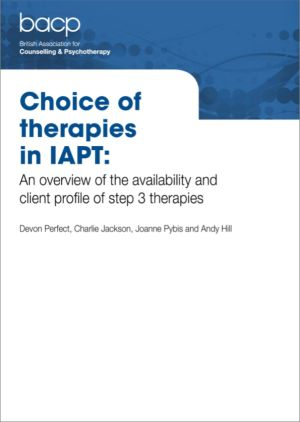 Cover of Choice of therapies in IAPT report