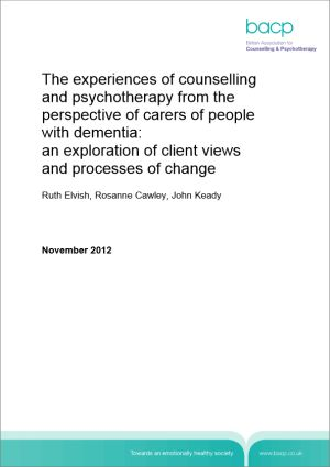 Cover of Experience of counselling and psychotherapy