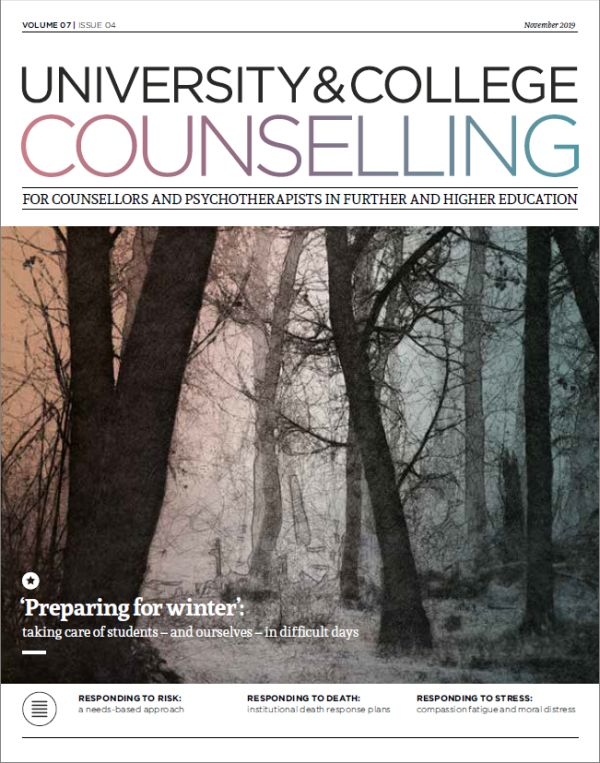 Cover of University and College Counselling, November 2019