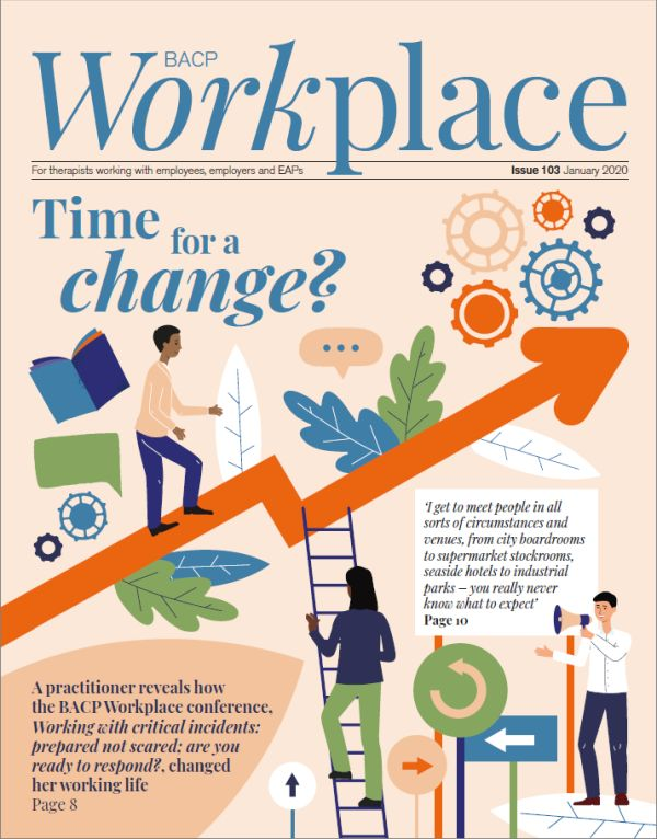 Cover of BACP Workplace, January 2020