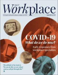 Cover of BACP Workplace April 2020